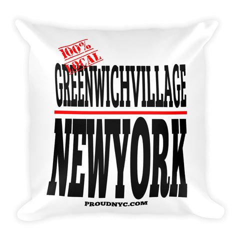 Greenwich Village Local Square Pillow