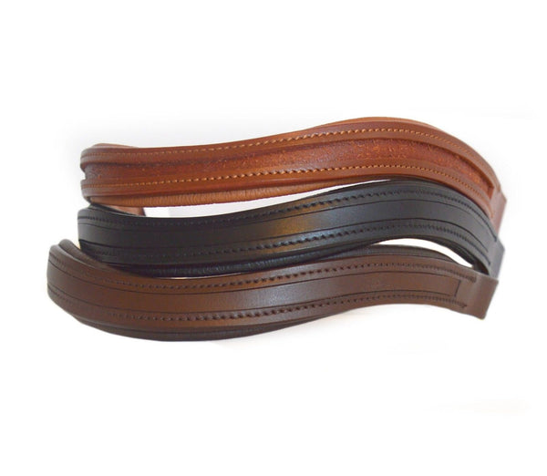 U Shape Leather Browbands - Empty Channel