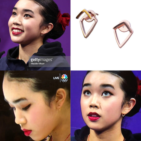 AOL featured TRILL earrings by SONIA HOU Jewelry - worn by Olympic U.S. Figure Skaters Karen Chen and Mirai Nagasu