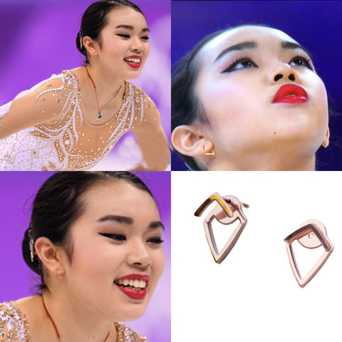 Olympic Figure Skater Karen Chen Wearing SONIA HOU Trill Earrings Is The Best Way To Promote Your Business For Free