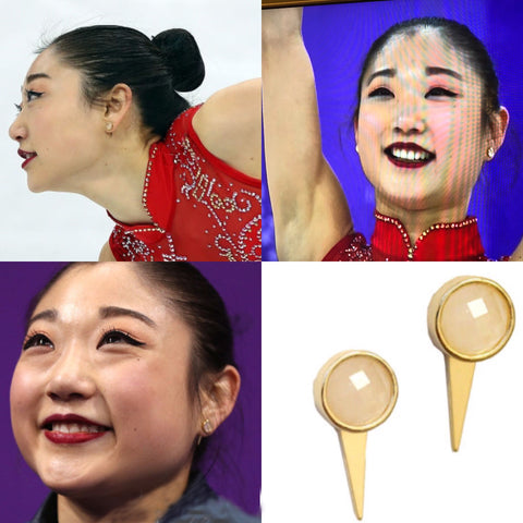 Olympic Figure Skater Mirai Nagasu Wearing SONIA HOU Fire Earrings Is The Best Way To Promote Your Business For Free