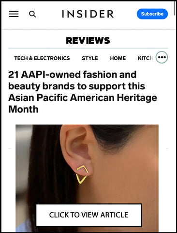 BUSINESS INSIDER featured Sonia Hou Jewelry as one of the AAPI-owned fashion beauty brands to support
