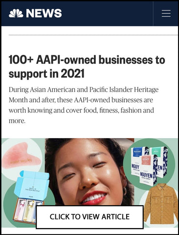 NBC NEWS featured Sonia Hou Jewelry as one of the AAPI-owned fashion beauty brands to support