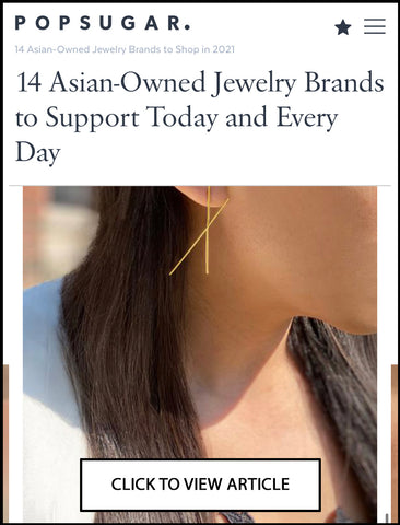 SONIA HOU Jewelry featured on POPSUGAR as one of the 14 Asian Owned Jewelry Brands To Support