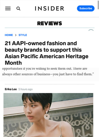 SONIA HOU Jewelry was featured on BUSINESS INSIDER'S 21 AAPI-owned Fashion Beauty Brands To Support This Asian Pacific American Heritage Month