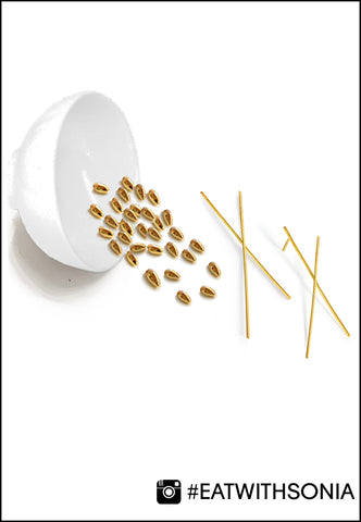 Chopstick earrings presented in Jewelry Food art by Sonia Hou Jewelry
