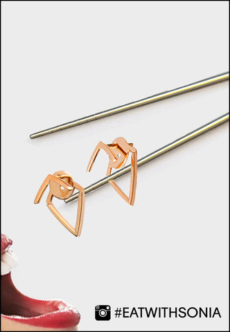 TRILL rose gold earring jackets by Sonia Hou Jewelry presented as Jewelry Food art