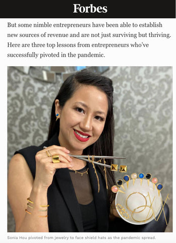 Forbes featured Sonia Hou Jewelry