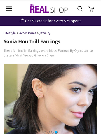 The Real Daytime Talk Show Featured TRILL earrings by SONIA HOU Jewelry