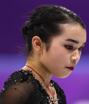 Olympic U.S. Figure Skater Karen Chen Wearing TRILL Earrings By SONIA HOU Jewelry