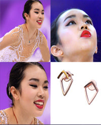 SONIA HOU Jewelry's celebrities / press exposure includes Olympic U.S. Figure Skater Karen Chen Wearing Her TRILL Earrings at the Winter Olympics '18