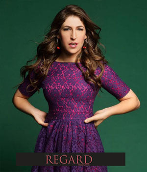 CBS' Big Bang Theory Actress Mayim Bialik Wearing ANGEL Earrings by SONIA HOU Jewelry for Regard Magazine Photoshoot