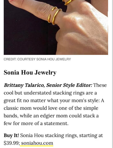 PEOPLE Featured Sonia Hou Jewelry as the Best Mother's Day Gift Ideas
