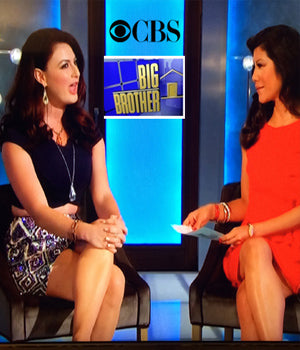 Reality TV star Rachel Reilly wearing SUCCESS Earrings by SONIA HOU Jewelry on CBS' Big Brother