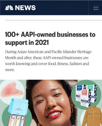 NBC News featured Sonia Hou Jewelry as one of the AAPI fashion brands to support