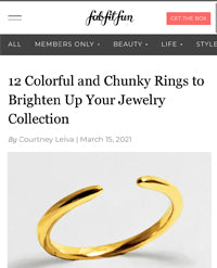 Sonia Hou Jewelry featured on FabFitFun as one of the Colorful and Chunky Rings To Brighten Up Your Jewelry Collection