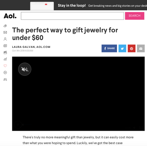 AOL Featured SONIA HOU Jewelry