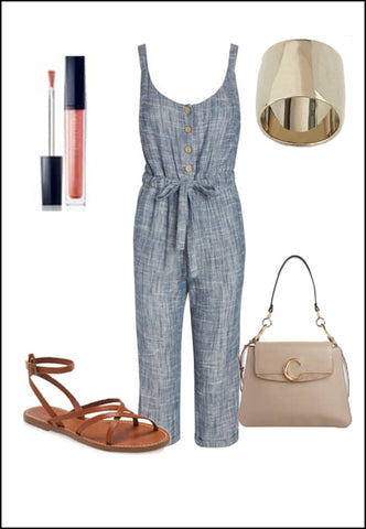 Rich Sterling Silver Ring by Sonia Hou Jewelry paired with women's brown sandals, grey purse and pink chanel lipstick