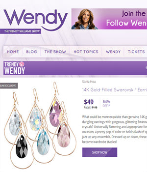 Wendy Williams show featured SELFIE Earrings by SONIA HOU Jewelry