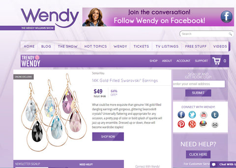 SONIA HOU Jewelry Designer markets her business on Wendy Williams show for free