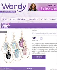 SONIA HOU Jewelry's celebrities / press exposure includes Wendy Williams Show featuring her SELFIE earrings