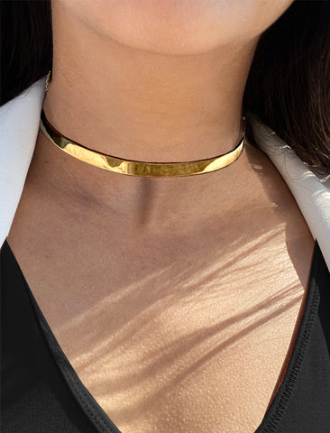 C.E.O. CHOKER STATEMENT NECKLACE IN 18K GOLD VERMEIL