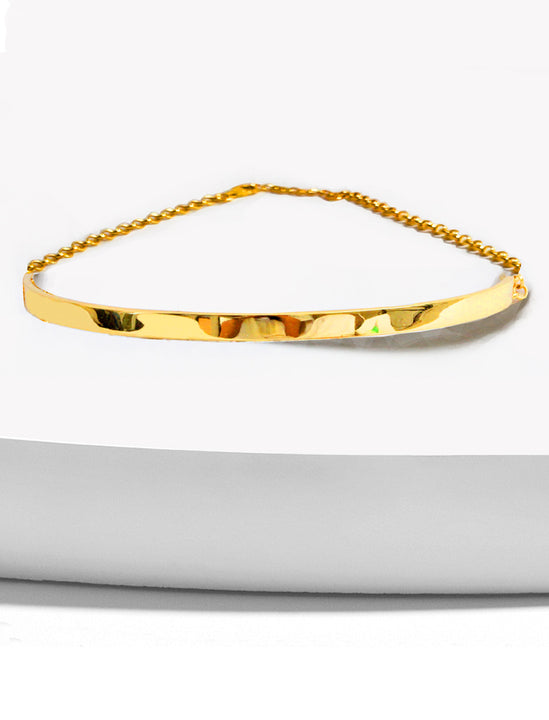 C.E.O. CHOKER STATEMENT NECKLACE IN 18K GOLD VERMEIL BY SONIA HOU JEWELRY