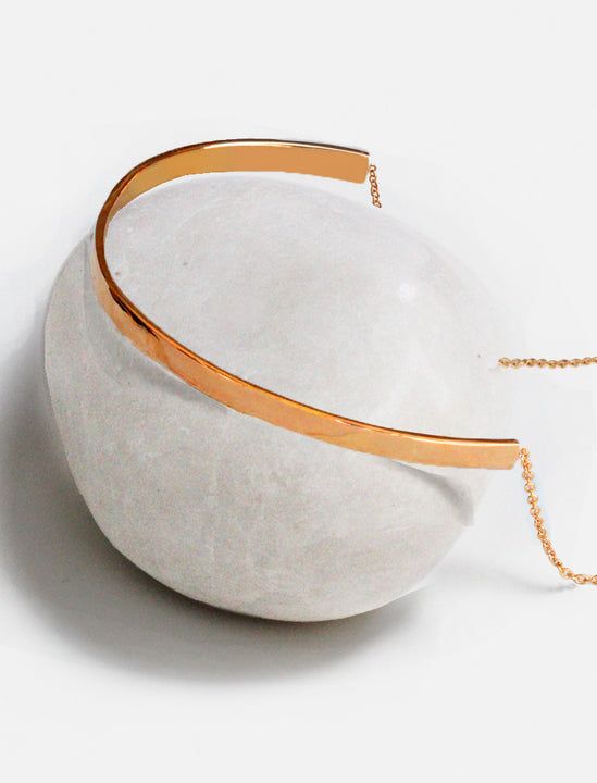 C.E.O. CHOKER STATEMENT NECKLACE IN 18K ROSE GOLD VERMEIL BY SONIA HOU JEWELRY