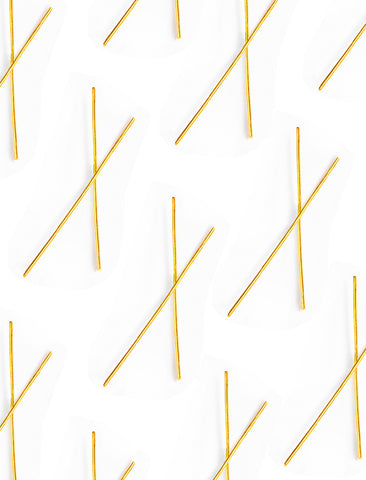 CHOPSTICK LONG EARRINGS IN 18K GOLD VERMEIL
