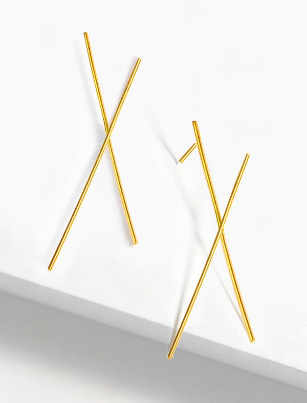 LONG CHOPSTICK EARRINGS