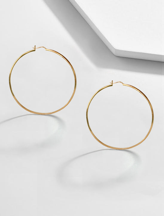 Eternity 18K Gold Vermeil Hoop Earrings by Sonia Hou Jewelry