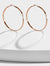 ETERNITY 18K ROSE GOLD HOOP EARRINGS | VERMEIL