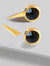 FIRE 3-WAY CONVERTIBLE BLACK ONYX EARRING JACKETS IN 24K GOLD