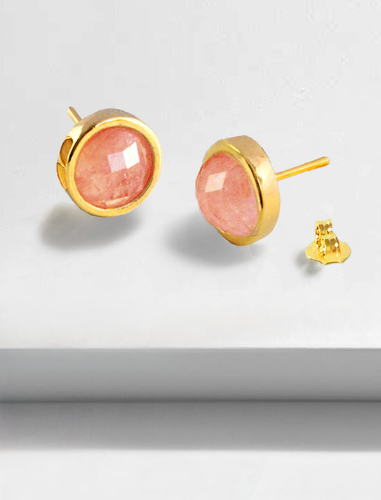 FIRE 3-Way Convertible 24K Gold Pink Earring Jackets In Coral Gemstone by SONIA HOU Jewelry