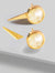 FIRE 3-WAY CONVERTIBLE WHITE QUARTZ EARRING JACKETS IN 24K GOLD