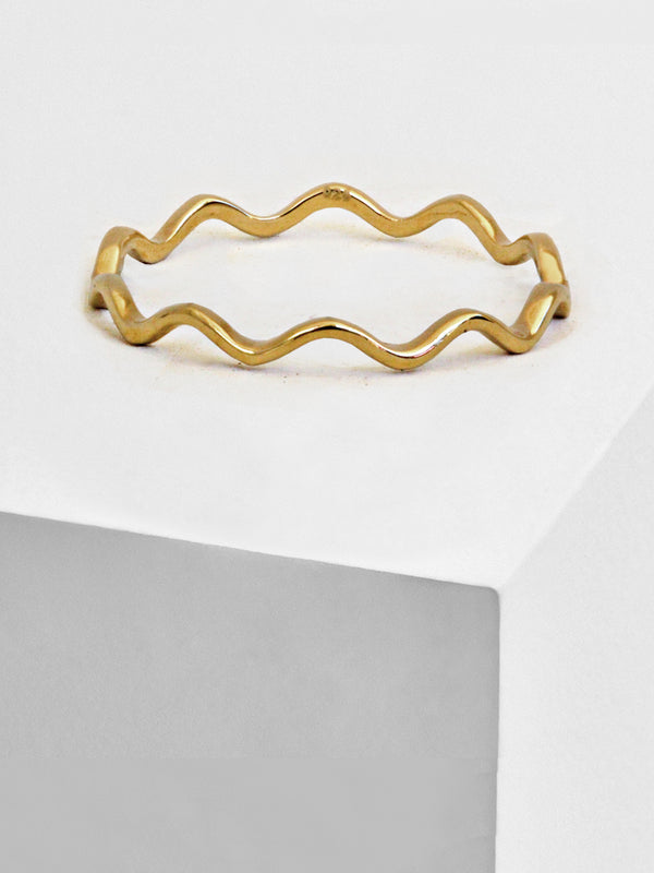 NOODLE WAVE 925 STERLING SILVER STACKABLE RING