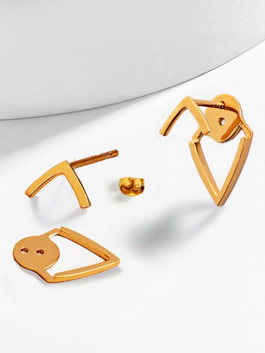 TRILL 2-Way Convertible 18K Vermeil Rose Gold Ear Jackets by SONIA HOU Jewelry