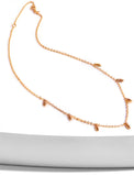 Thin RICE Bead Chain Minimalist Necklace in 18K Rose Gold Vermeil by Sonia Hou Jewelry