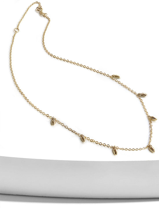 MINIMALIST RICE BEAD CHAIN NECKLACE
