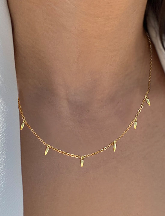 RICE Minimalist Necklace in 18K Gold Vermeil by Sonia Hou Jewelry