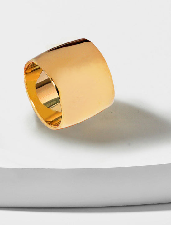 Rich Chunky Band Ring in 18K Rose Gold Vermeil by Sonia Hou Jewelry