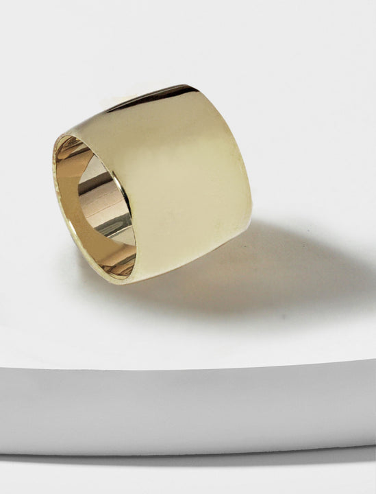 Rich Chunky Band Ring in Sterling Silver  by Sonia Hou Jewelry