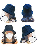Adults Black Safety Face Shield Hat by Sonia Hou Jewelry
