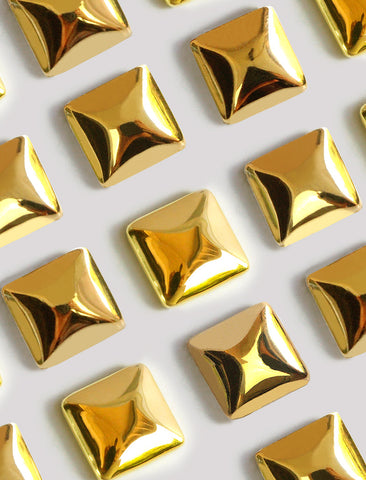 SQUARE STUD EARRINGS | 18K GOLD VERMEIL