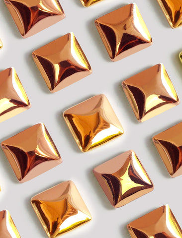 SQUARE STUD EARRINGS | 18K ROSE GOLD VERMEIL