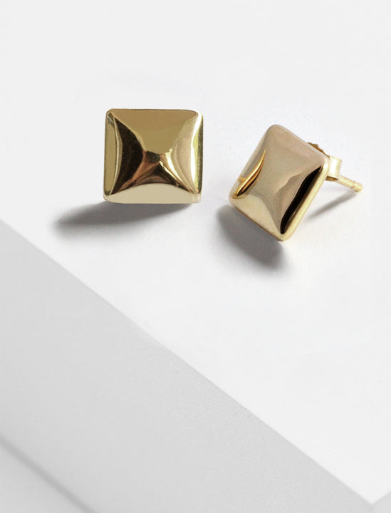 Square Earrings in 925 Sterling Silver by Sonia Hou Jewelry