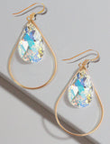 SELFIE 14K Gold Swarovski Crystal Earrings In Billionaire Silver by SONIA HOU Jewelry