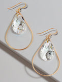 SELFIE 14K Gold Swarovski Crystal Earrings In Clear by SONIA HOU Jewelry