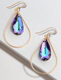 SELFIE 14K Gold Swarovski Crystal Earrings In Purple Vitrail by SONIA HOU Jewelry