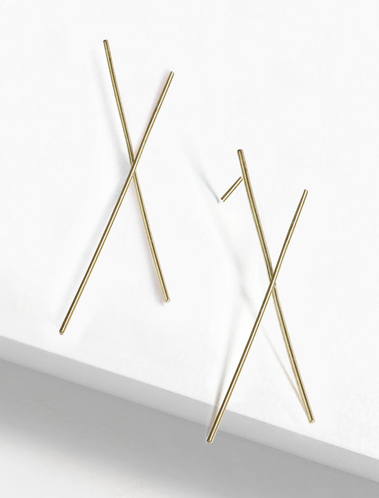 Chopsticks Minimalist Earrings in 925 Sterling Silver  by Sonia Hou Jewelry